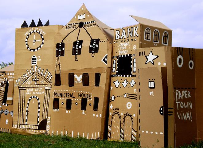 Как создать картонный город