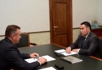 Игорь Руденя провел рабочую встречу с главой Торопецкого района