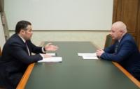 Губернатор встретился с главой Максатихинского района