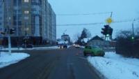 В Твери Матиз протаранил светофор