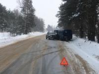 В Калининском районе произошло лобовое ДТП