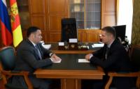 Игорь Руденя провел рабочую встречу с главой города Торжка