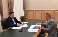 Игорь Руденя обсудил развитие Калининского района с главой муниципалитета Андреем Зайцевым